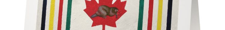 Canadiana Stripes Card