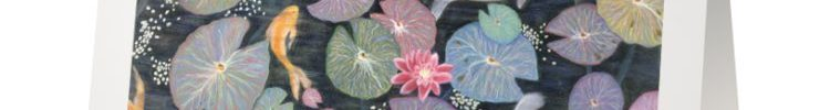 Water Lilies and Koi Card